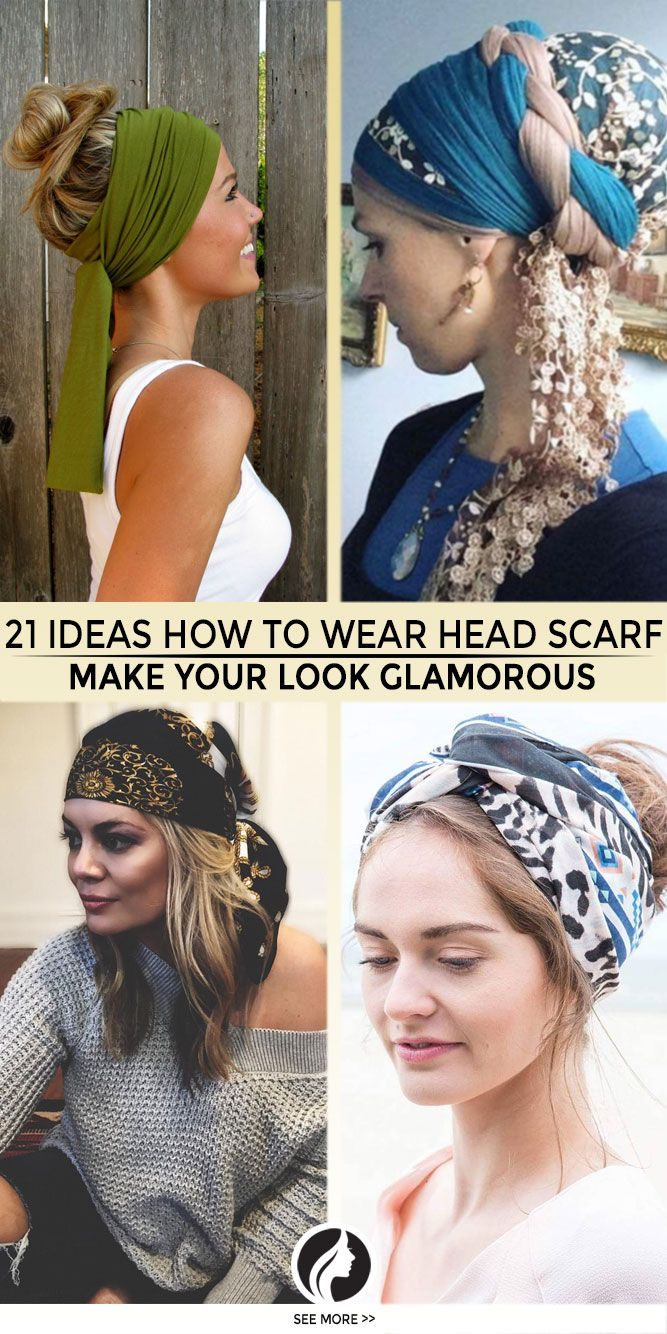 how to make head scarf tutorial