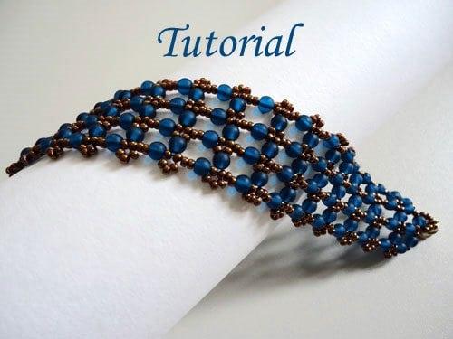 seed bead cuff bracelet tutorial