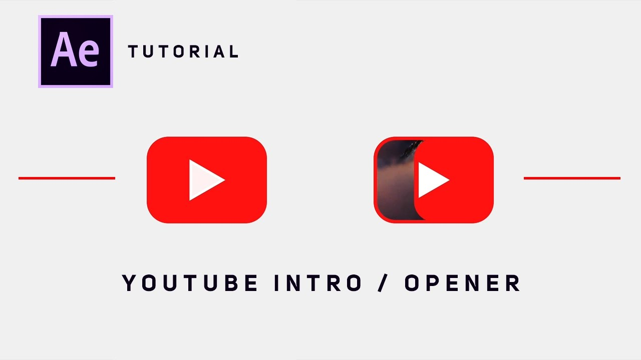 youtube intro after effects tutorial
