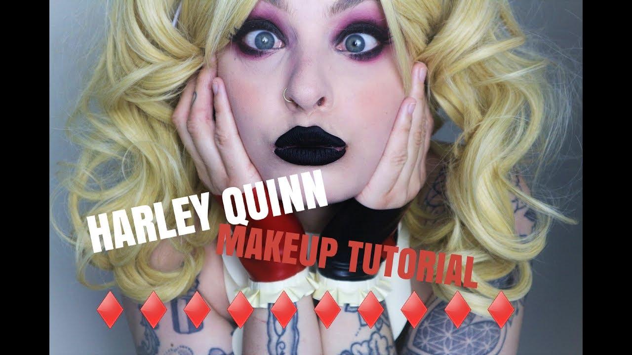 classic harley quinn makeup tutorial