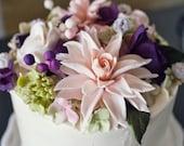 dahlia sugar flower tutorial