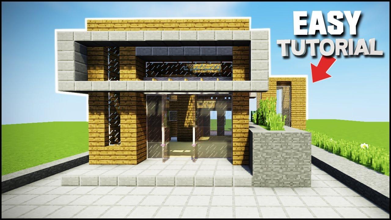 easy modern house minecraft tutorial