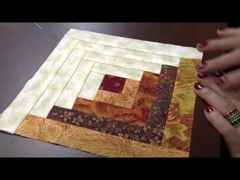 log cabin patchwork tutorial