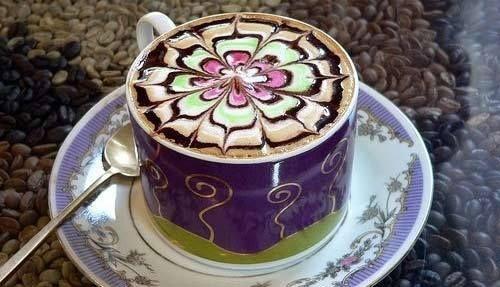 latte art heart tutorial