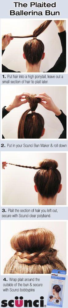 hair bun tutorial using donut