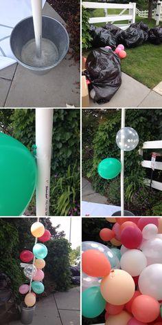 simple balloon decoration tutorial