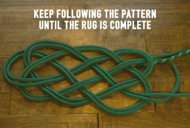 climbing rope rug tutorial