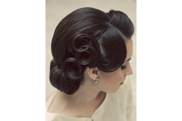 vintage hair tutorial for short hair