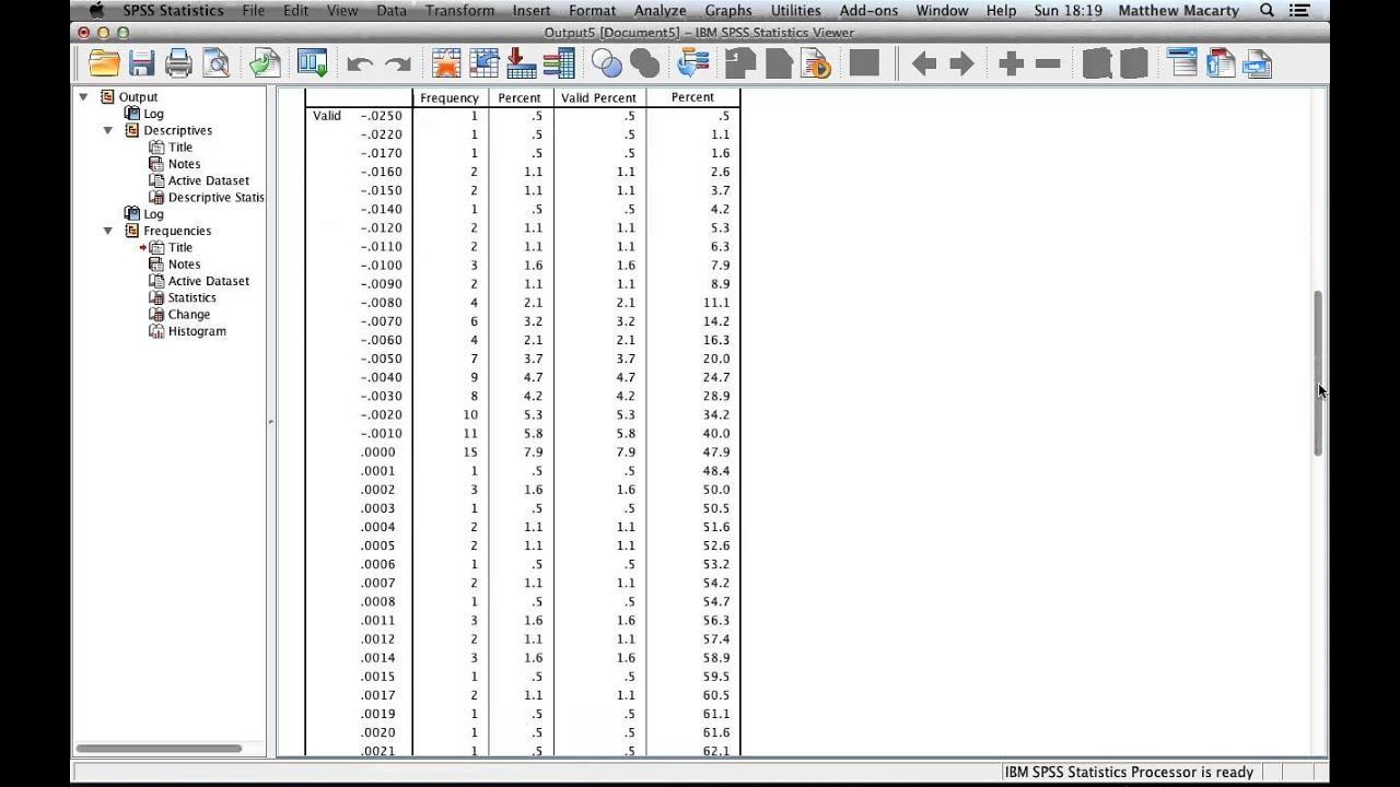 spss tutorial descriptive statistics