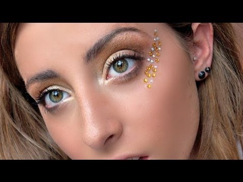 golden goddess makeup tutorial