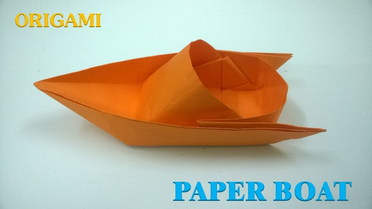 how to make a paper boat origami tutorial