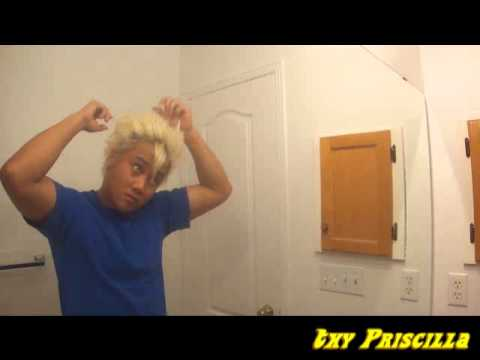 super saiyan wig tutorial
