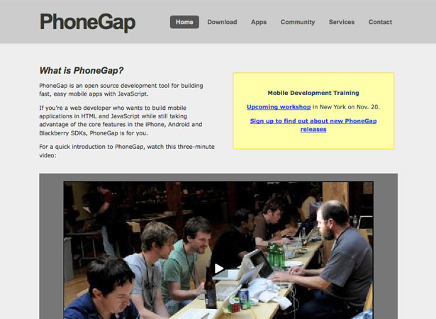 phonegap first app tutorial