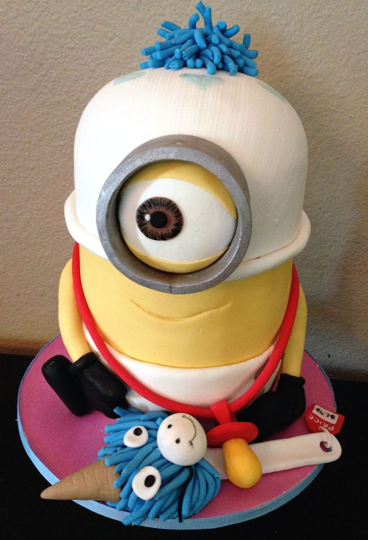 minion fondant cake tutorial