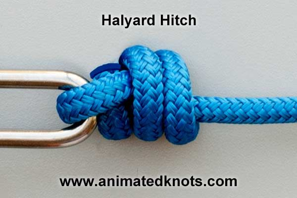 slippery hitch knot tying tutorial