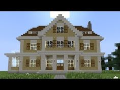 minecraft big mansion tutorial