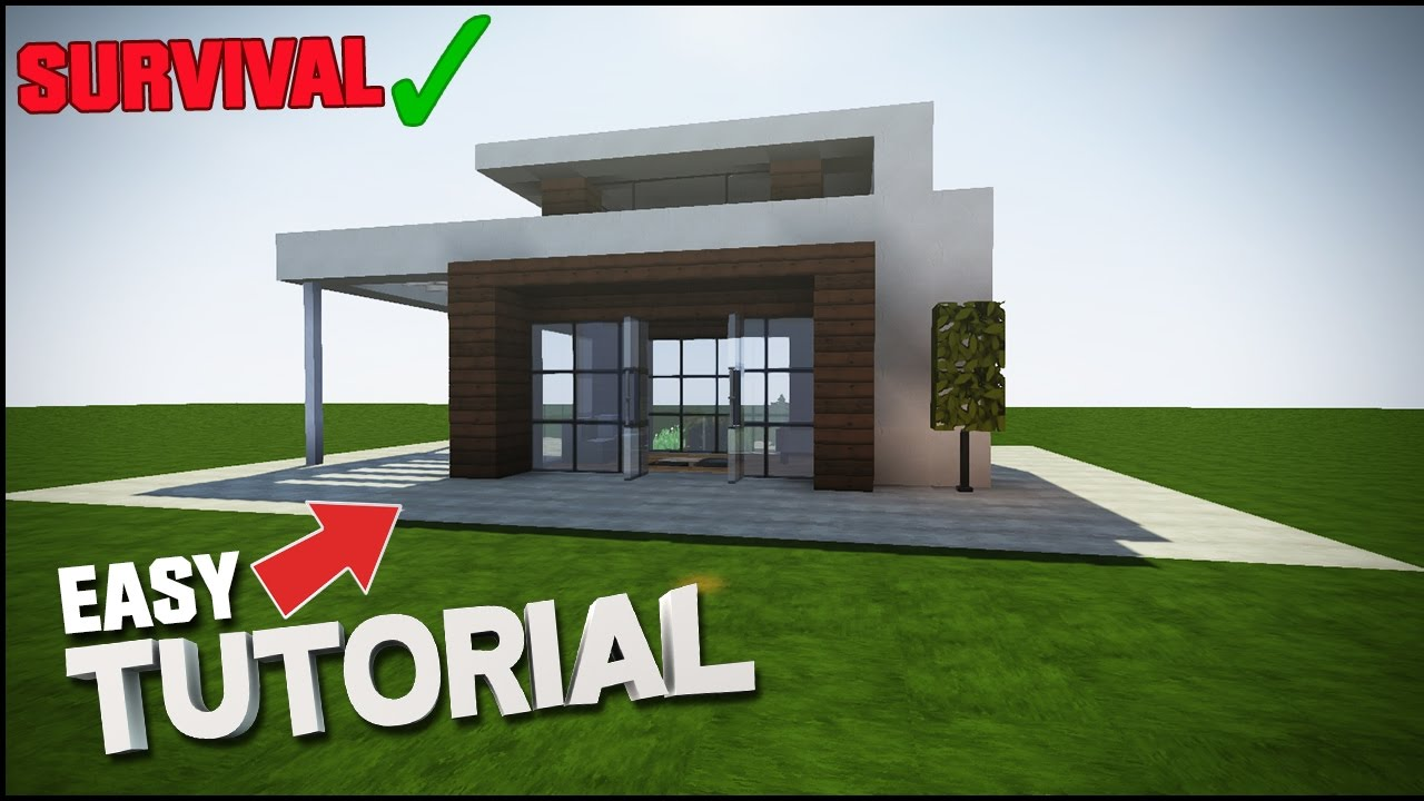 easy modern house minecraft tutorial