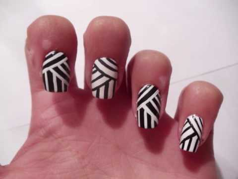 nail art lines tutorial