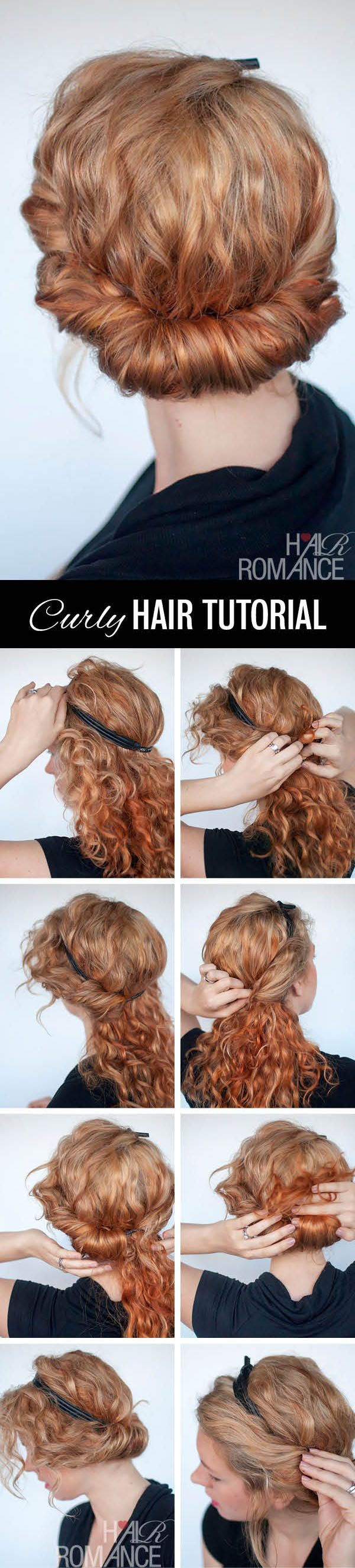 naturally curly hair updo tutorial