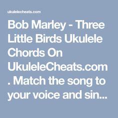 three little birds ukulele tutorial