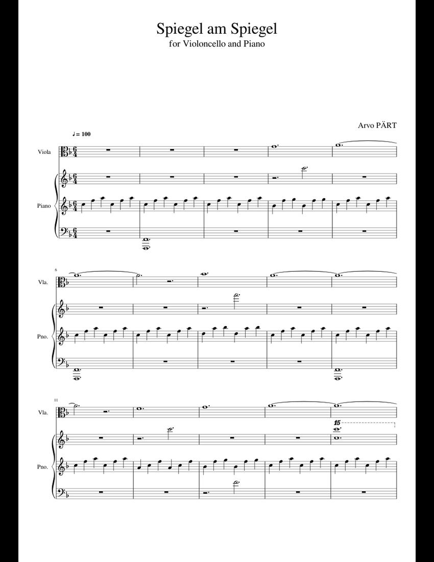 spiegel im spiegel piano tutorial
