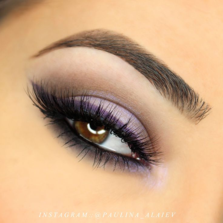 purple eyeshadow tutorial for brown eyes