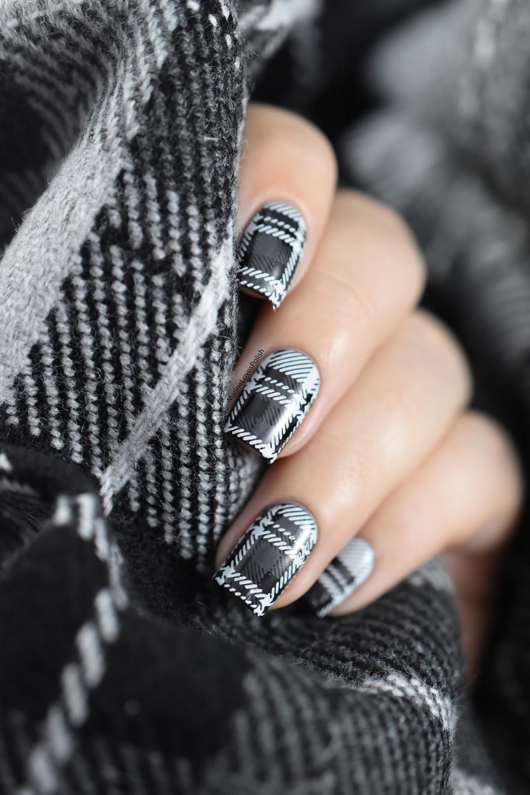 nail polish stamping tutorial
