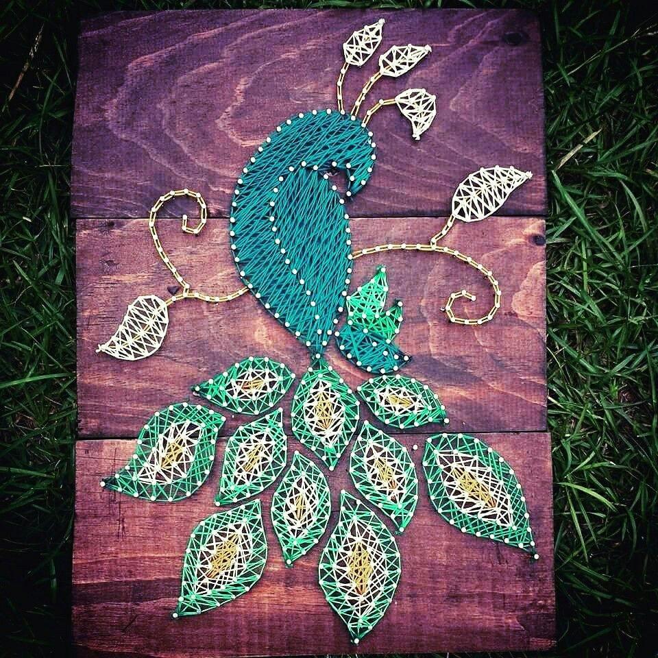 nail and string art tutorial