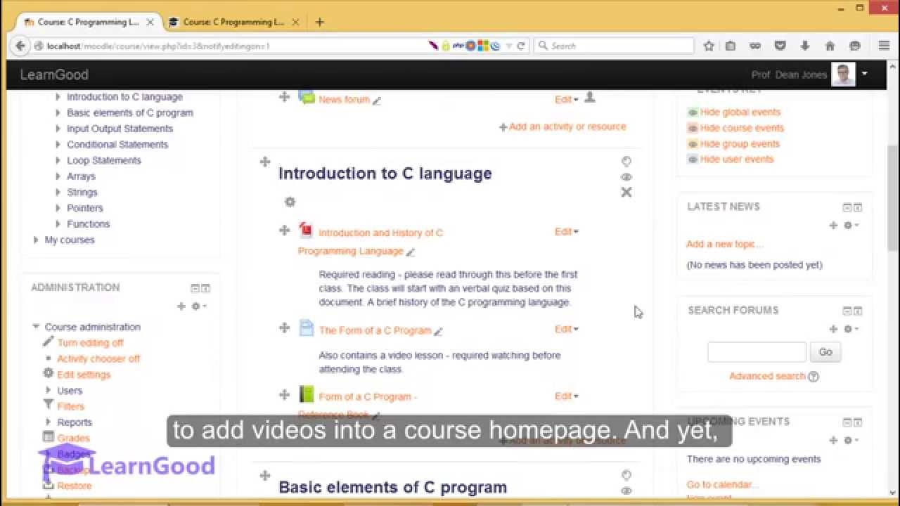 how to use moodle tutorial