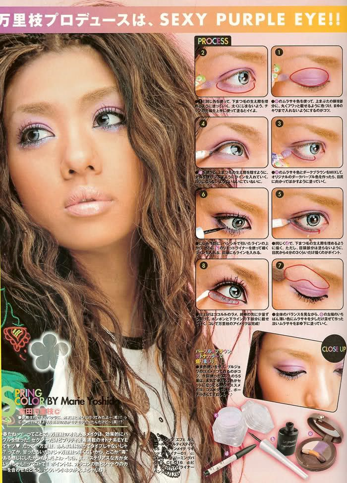 ganguro girl makeup tutorial