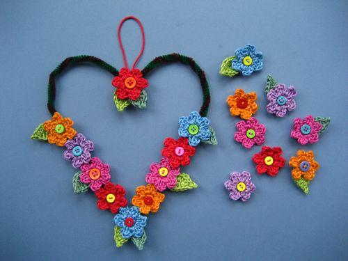 crochet flower garland tutorial