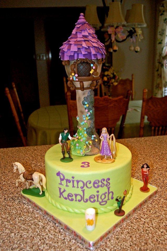 rapunzel tower cake tutorial