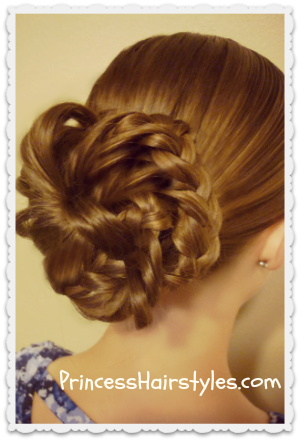 messy braid updo tutorial