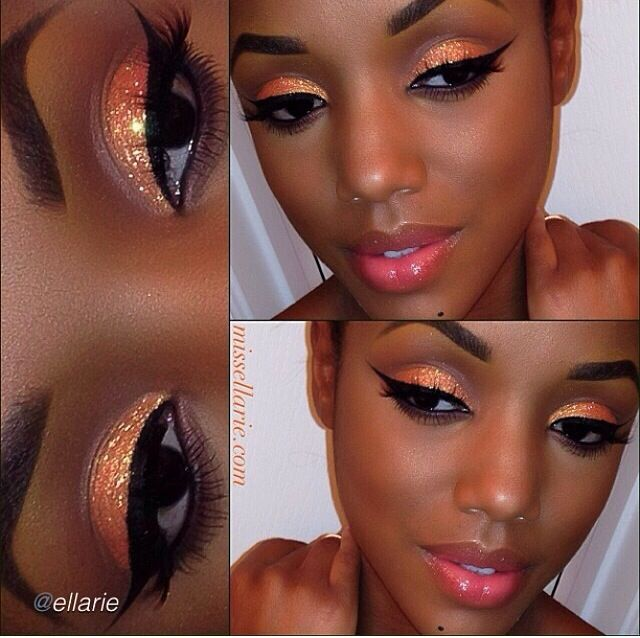 glitter eyeshadow tutorial dark skin