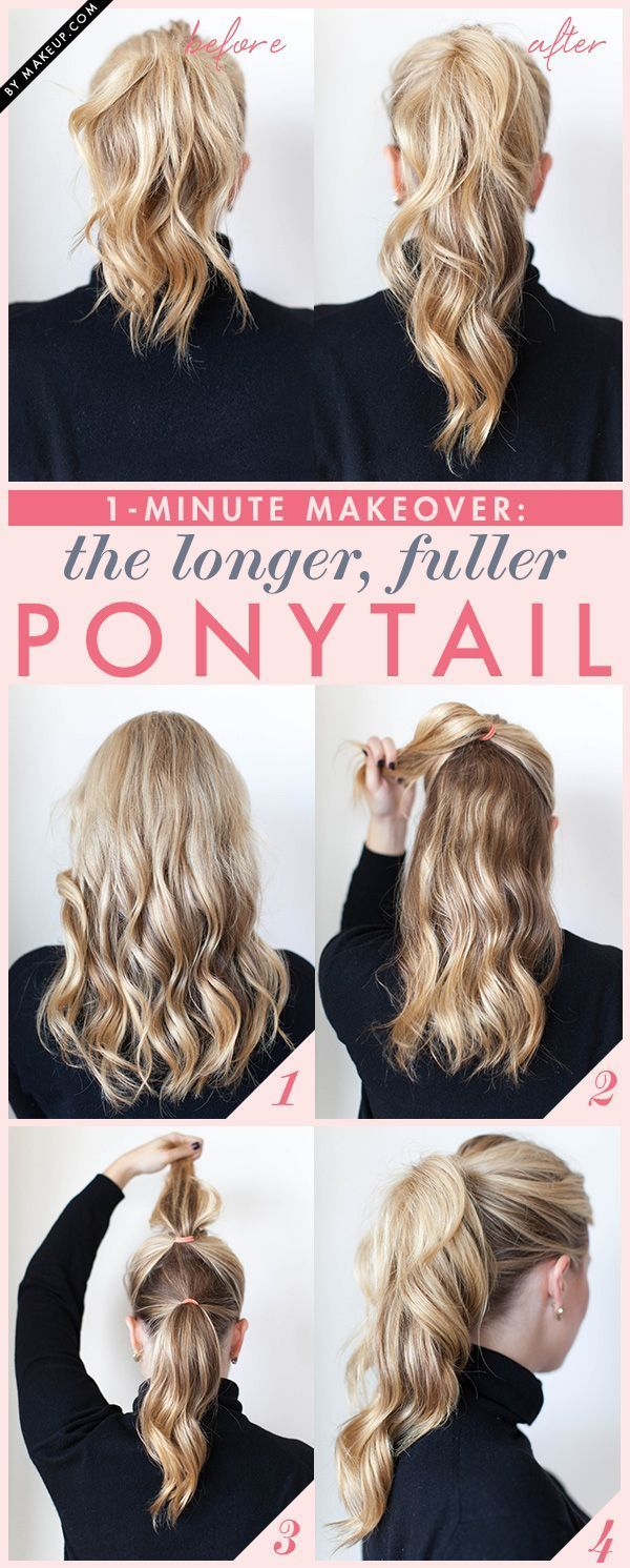 high curly ponytail tutorial
