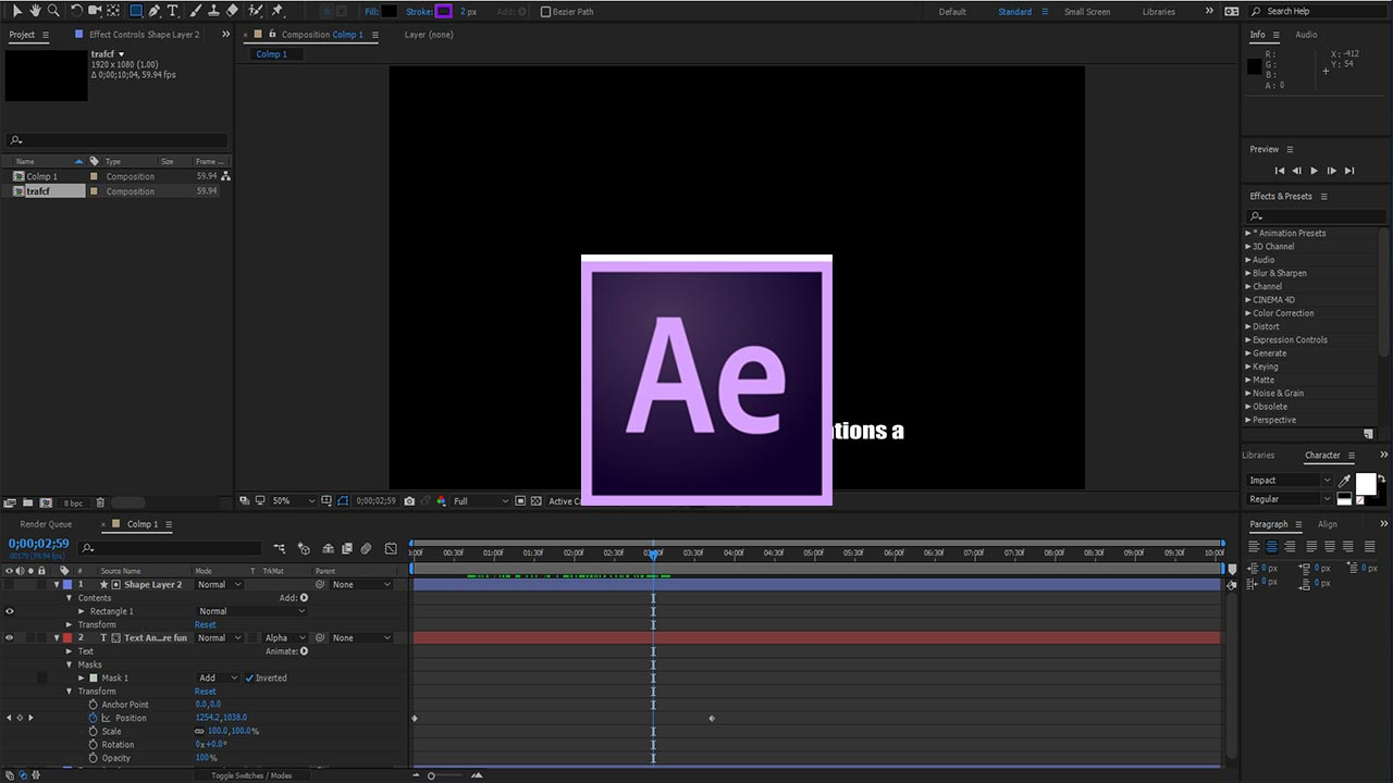 after effects cc 2018 tutorial