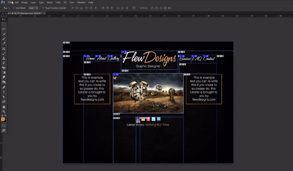 tutorial psd to html