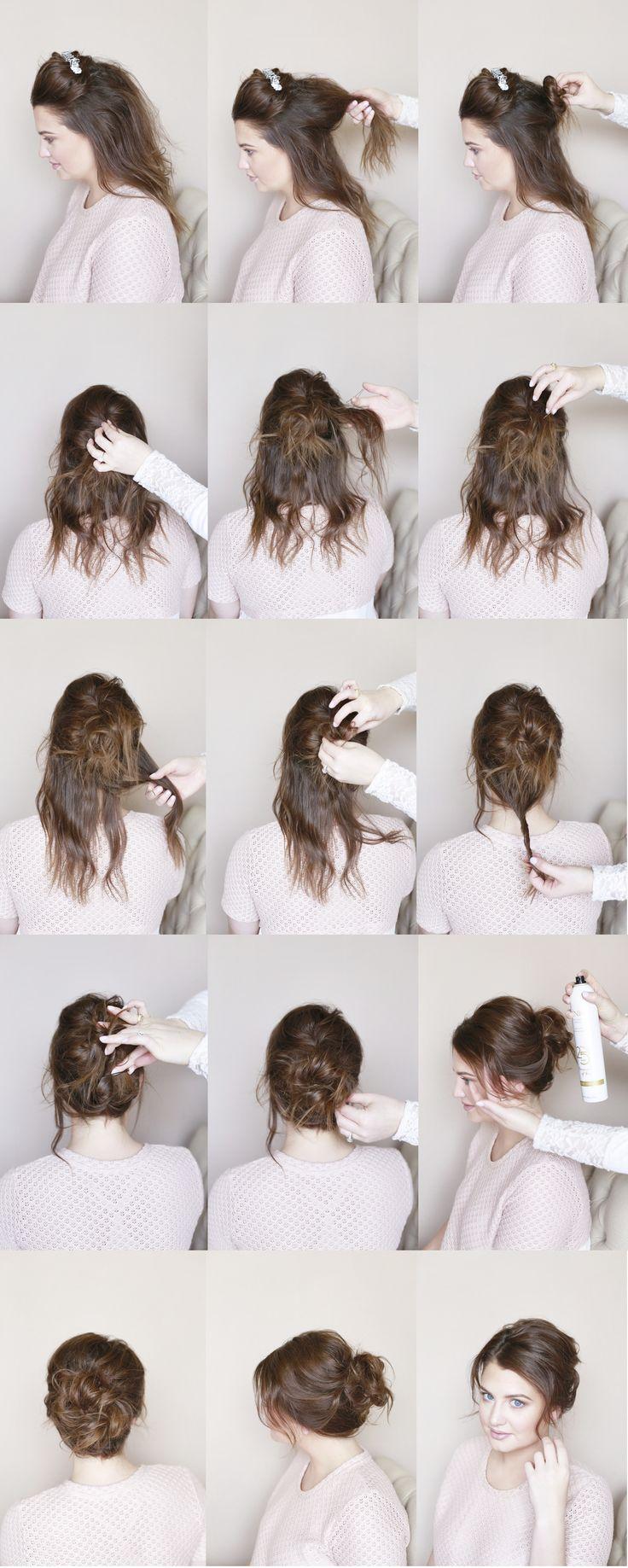 tumblr messy bun tutorial