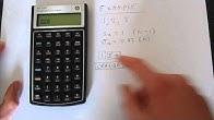 hp 10bii financial calculator tutorial