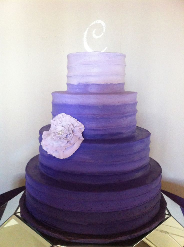 ombre wedding cake tutorial