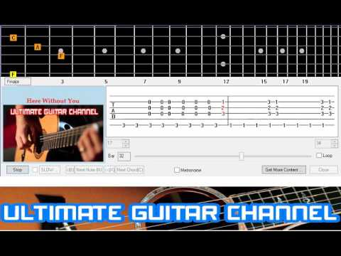 here without you guitar tutorial