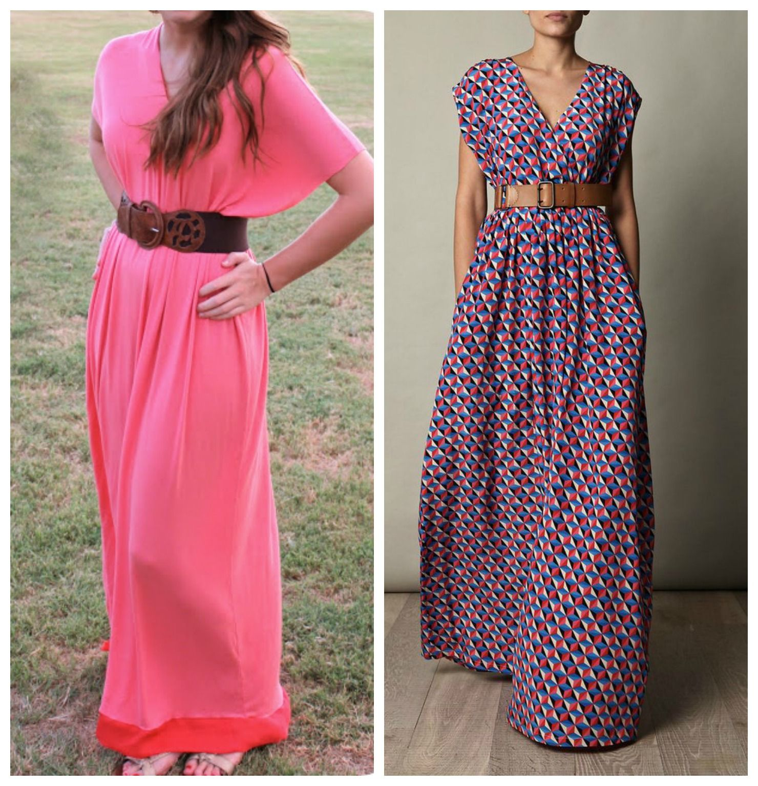 how to make a maxi dress tutorial