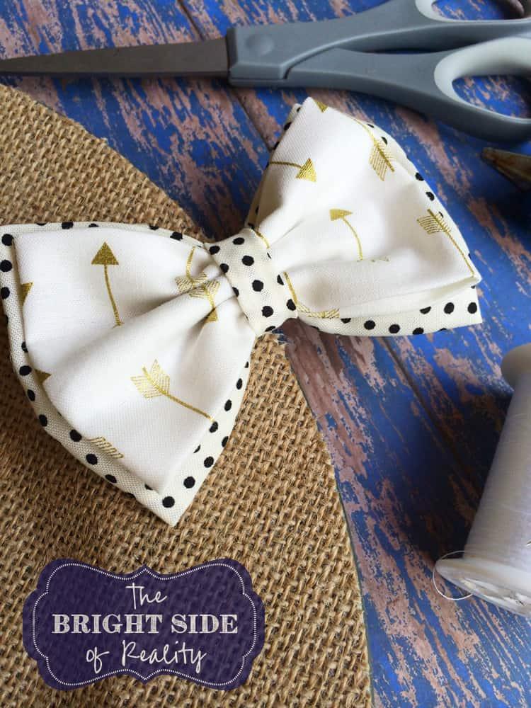 hair bow tie tutorial