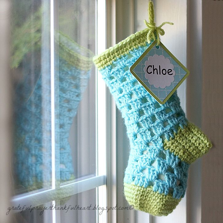 crochet christmas stocking tutorial