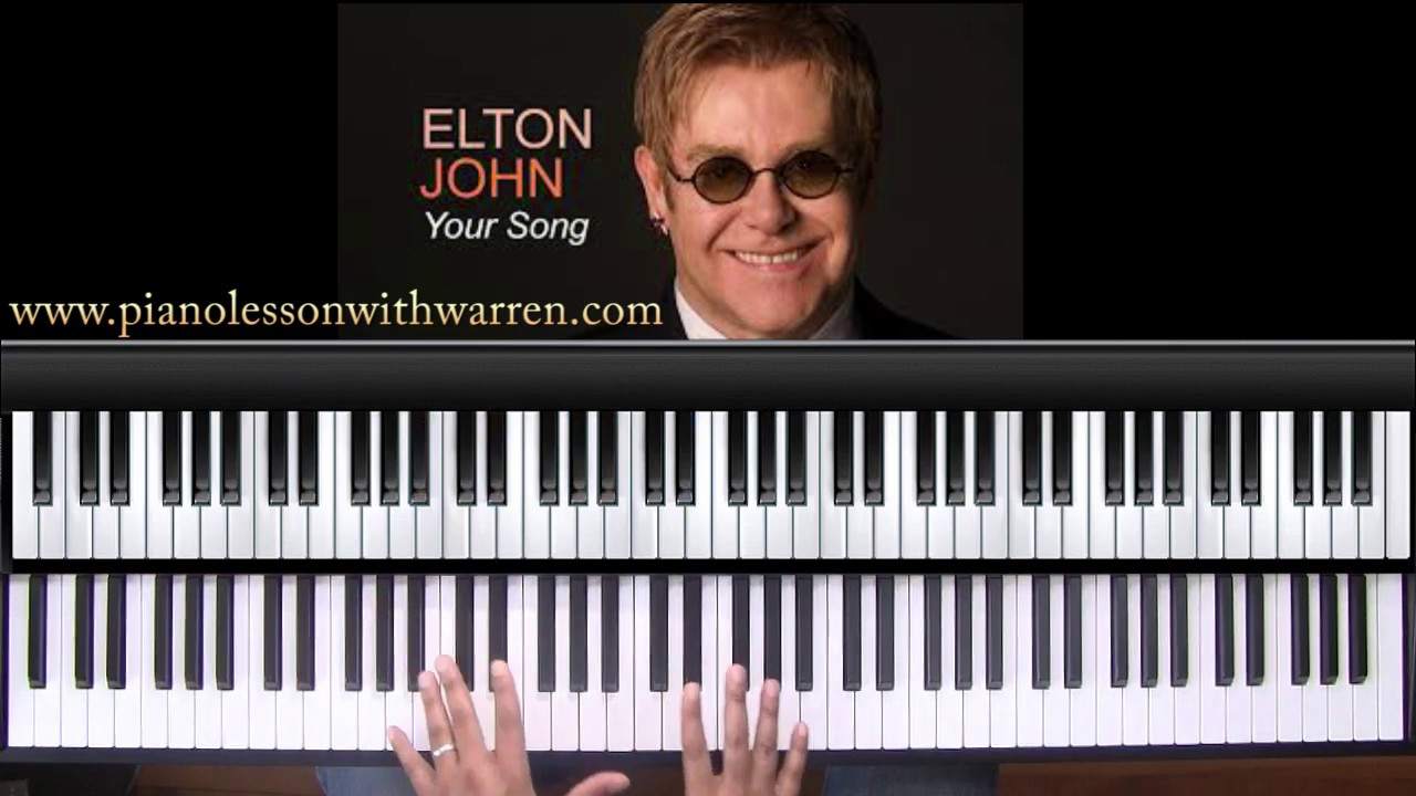 rocket man piano tutorial