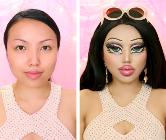 human doll makeup tutorial
