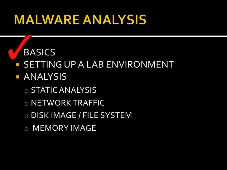 static malware analysis tutorial
