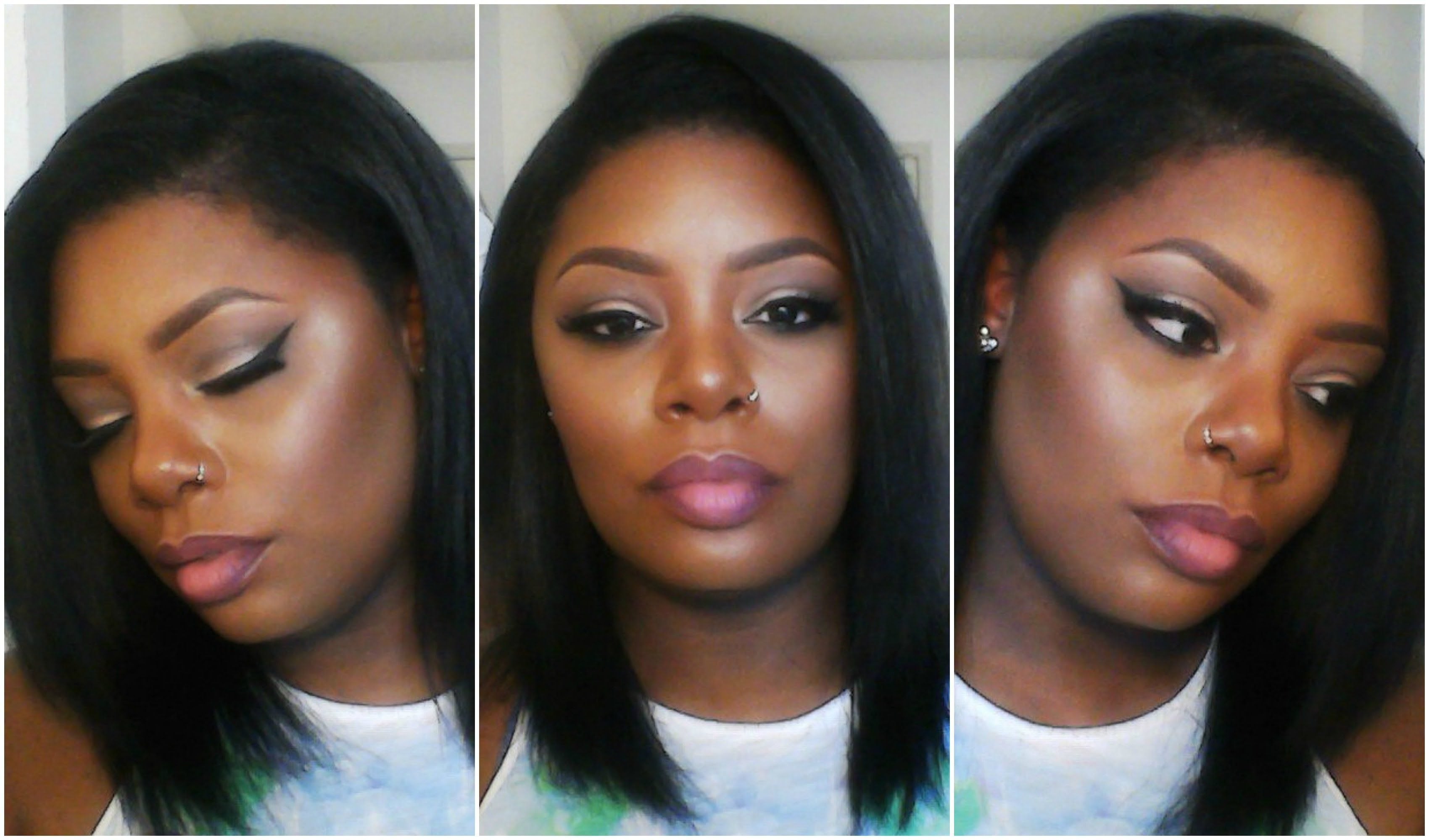 full face makeup tutorial for black skin