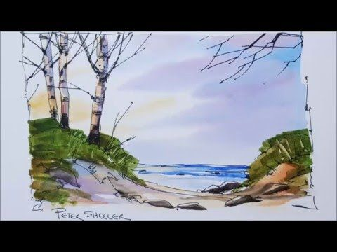 landscape painting tutorial youtube