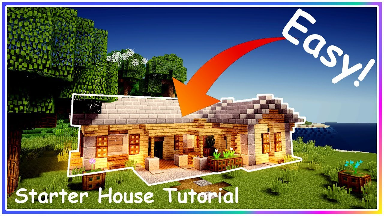 minecraft pe house tutorial